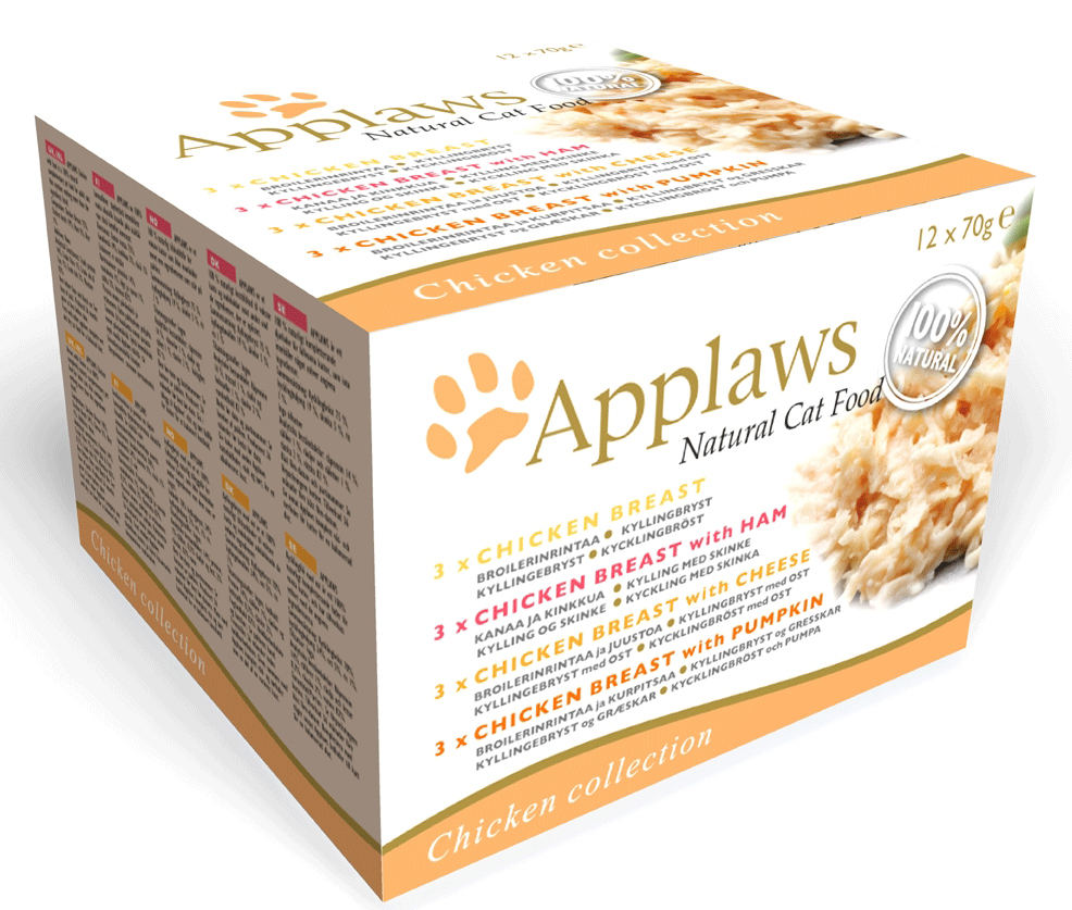 Våtfôr katt Applaws 12pk