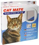 Kattedør CatMate 4 veis låsbar Rund hvit