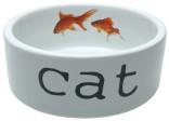 Keramikskål Vit med guldfiskar IPTS