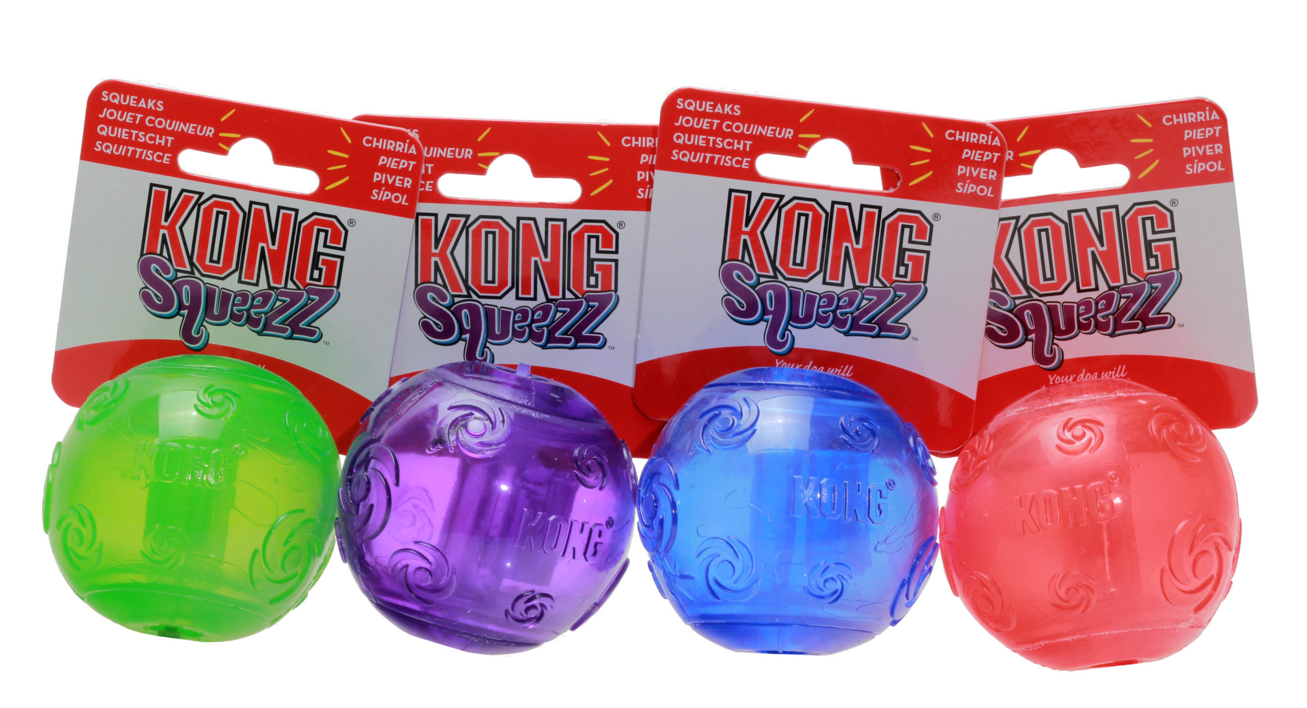 Hundeleke Kong Squeezz ball gummi