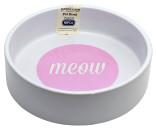Keramikskål Meow Vit/Rosa MC