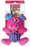 Hundleksak Kong W. Knots Pig