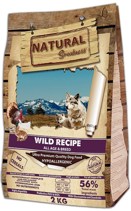 Hundefôr Natural Greatness Wild Recipe