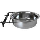 Mat og vannskål rustfri til hundebur