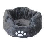 Katteseng plysj høye kanter grå vaskbar