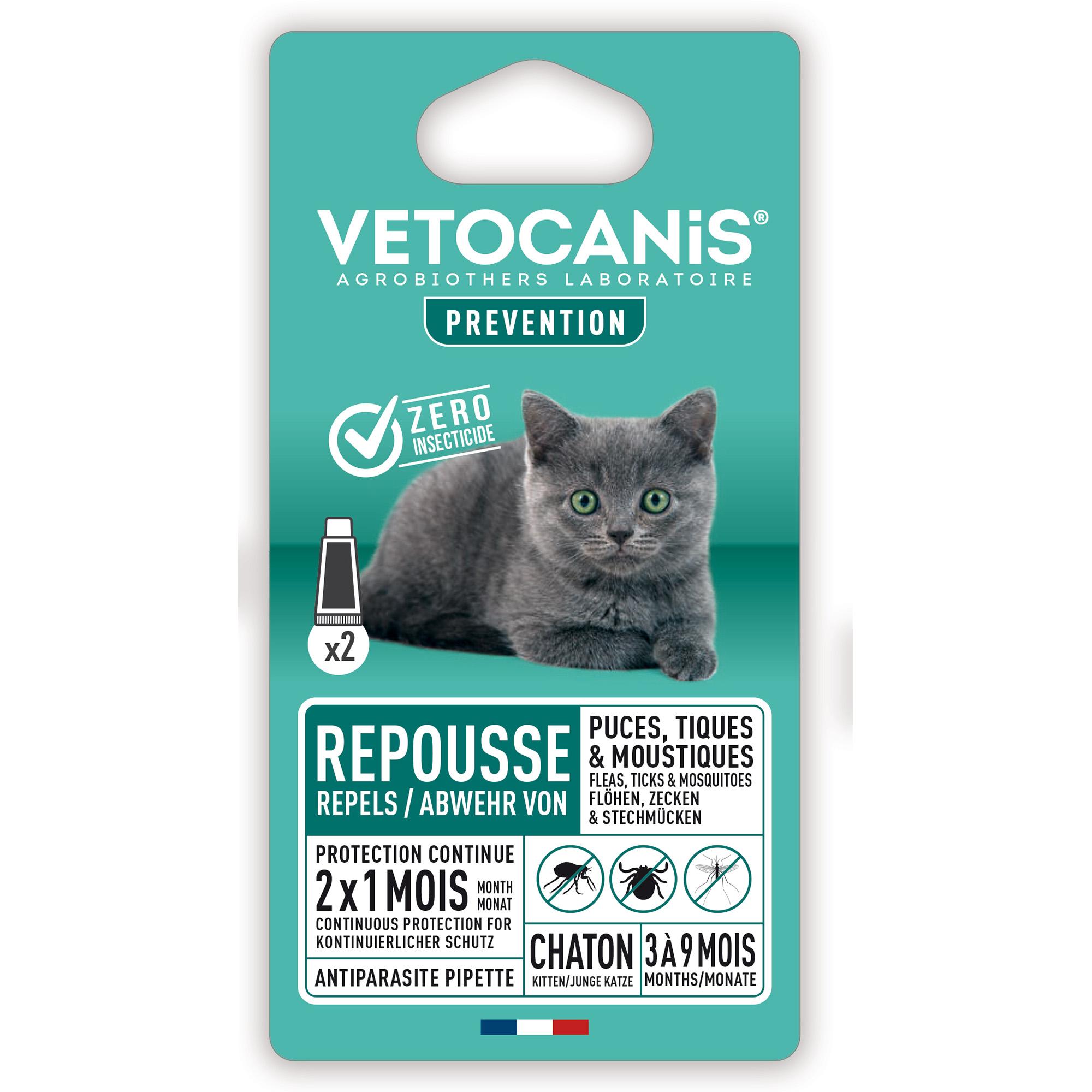 Flåttmiddel katt Vetocanis