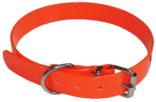 Jakthalsbånd oransje PVC plast