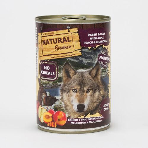 Natural Greatness Våtfôr Kanin, And og Eple