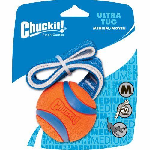 ChuckIt Ultra ball med tau, M