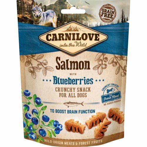 Carnilove Chrunchy Snack Laks og Blåbær 200 gram