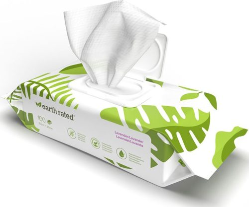 Earth Rated 100 Wipes, Lavender